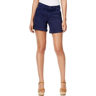 NYDJ Womens Denim Shorts Denim Cuffed