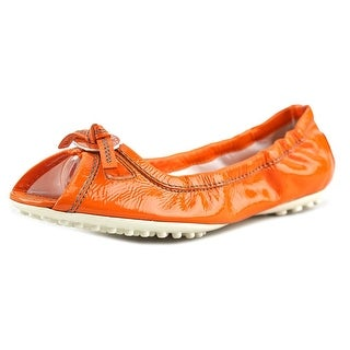 Tod's Whisky Penny Loafer   Peep-Toe Leather  Flats