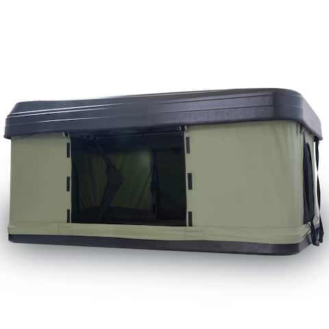 Trustmade Black Hard Shell Green Rooftop Tent 2mins Setup 100% Waterproof 50mm Mattress Pick Up Available 1 Piece / Carton - 78