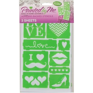Painted By Me (TM) Bake At Home Stencils 3/Pkg-Love