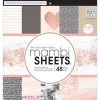 "Rose Gold - Mambi Single-Sided Paper Pad 12""X12"" 48/Pkg"