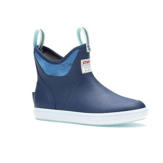Xtratuf Women's Salmon Sisters Blue Whale Print Size 5 Ankle Deck Boots