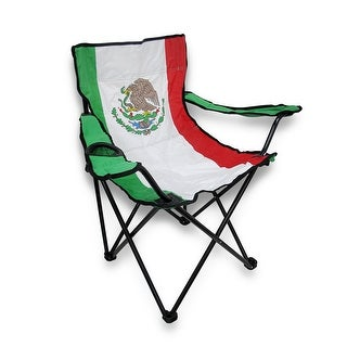Mexican Flag Nylon Folding Camp Chair Mexico