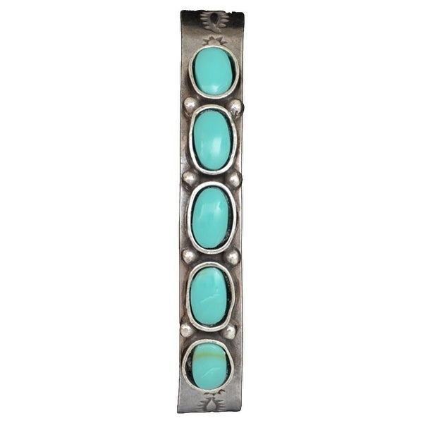 LoulaBelle Western Jewelry Womens Bracelet Stones Silver LLB5605TQ - silver turquoise