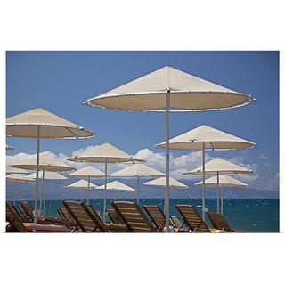 """Beach on Greece"" Poster Print"