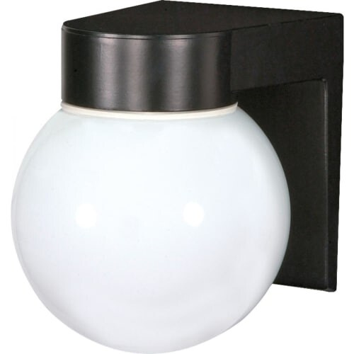 Nuvo Lighting 77/140 Single Light Wall Mounted Utility Fixture with White Glass Globe Shade