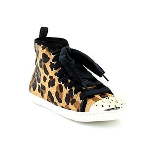 SCHUTZ Womens Aima Leather Hight Top Lace Up Fashion Sneakers