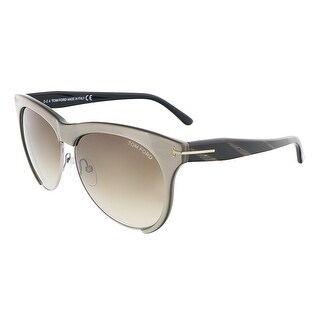 Tom Ford FT0365/S 38B LEONA Grey Bronze Rectangle sunglasses
