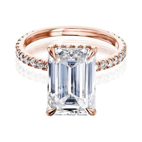 Annello by Kobelli 14k Gold Evie Engagement Ring (FG/VS, DEF/VS)