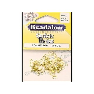 Beadalon Connector QuickLinks Small Gold 65pc