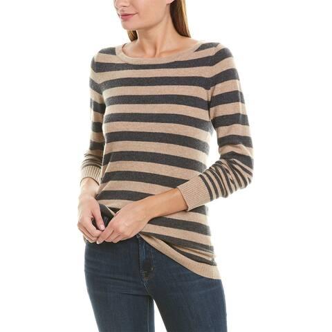 Qi Striped Cashmere Sweater