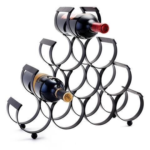 Carbon Loft Alderson Cast Iron 10-Bottle Wine Rack