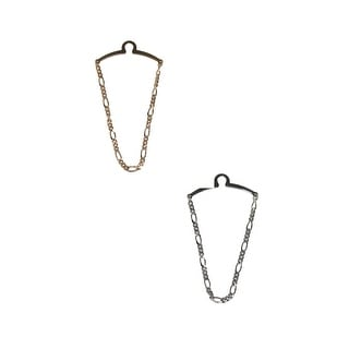 Competition Inc. Men's Figaro Style Link Tie Chains (Pack of 2) - Gold/Silver - One Size