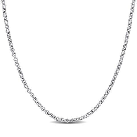 Miadora Sterling Silver Rolo Link Chain Necklace