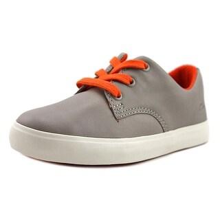 Clarks Club Samba Toddler W Leather Gray Fashion Sneakers