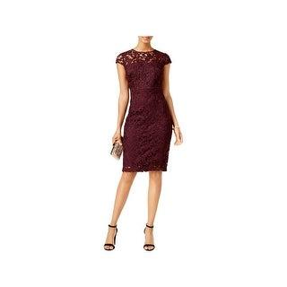 Jax Black Label Womens Cocktail Dress Lace Knee-Length - 2