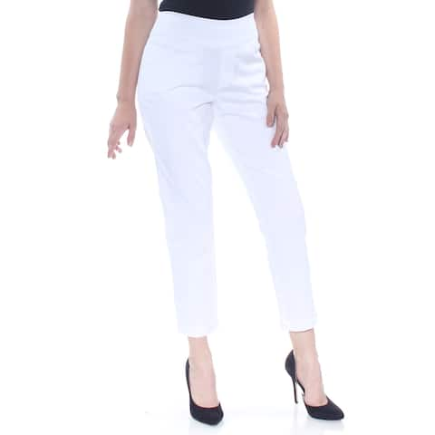 STYLE & CO Womens White Cropped Formal Pants Size S