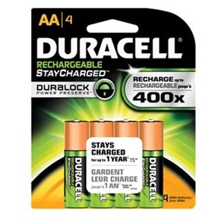 Duracell NIMH Pre-Charged Rechargeable Battery Size AA - Pack of 4