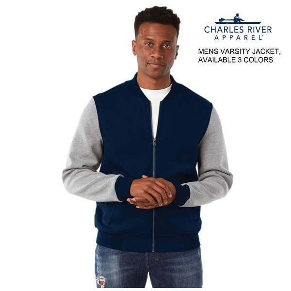 Mens Full Zip Varsity Jacket