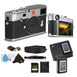 Leica M10 Digital Rangefinder Camera (Silver) With Sony 64GB Memory Card Bundle