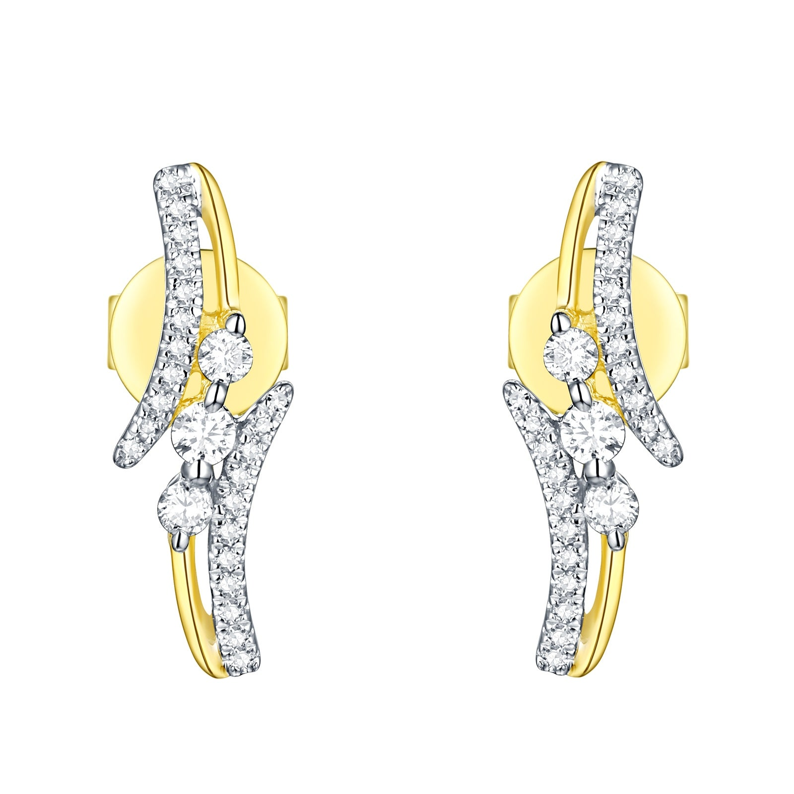 Prism Jewel 0.21 Carat Round G-H//I1 Natural Diamond Stylist Ring 10k Gold