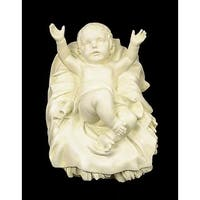 "6"" Joseph's Studio Religious Baby Jesus In Crib Outdoor Christmas Nativity Statue"