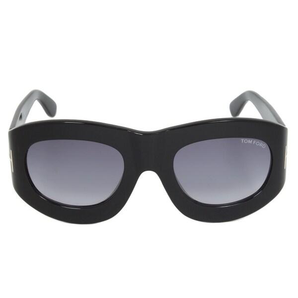 e450eb3f2d Shop Tom Ford FT0403 01V Mila Oval Sunglasses