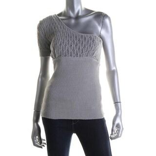 Catherine Malandrino Womens Baby Alpaca One Shoulder Pullover Sweater - S