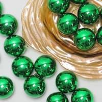 "96ct Shiny Xmas Green Shatterproof Christmas Ball Ornaments 3.25"" (80mm)"
