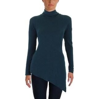 Aqua Womens Pullover Sweater Asymmetric Vented