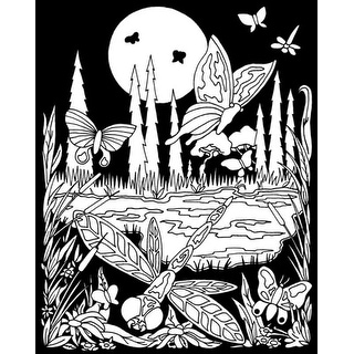 """Color-In Velvet Poster 16""""X20""""-Butterfly Meadow"""