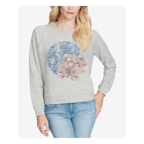 JESSICA SIMPSON Gray Long Sleeve Sweater Size M