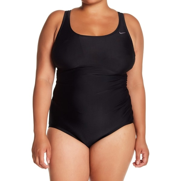 d830e747b1e Shop Nike Deep Black Womens Size 3X Plus Racerback One-Piece Swimsuit - Free  Shipping Today - Overstock - 28119549