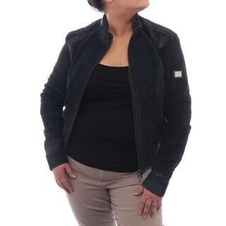 Verri Women Perforated Moto Jacket Basic Jacket Dark Green