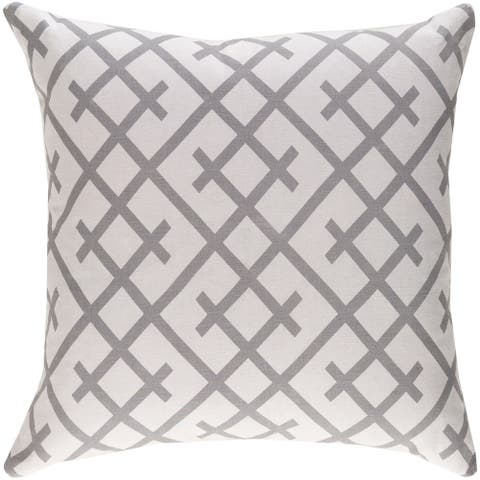 Decorative Water Grey 18-inch Throw Pillow Cover