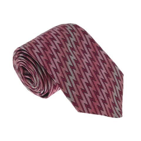 Missoni U5467 Pink/Red Flame Stitch Silk Tie - 60-3