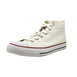 Converse CT Street Mid Men Round Toe Canvas White Sneakers