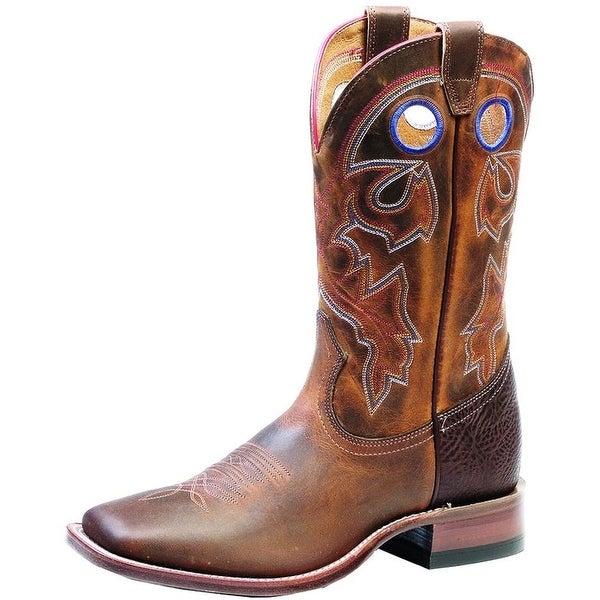 8c1807f017bb Shop Boulet Western Boots Mens Cowboy Stockman Laid Back Tan Spice - Free  Shipping Today - Overstock - 15862804