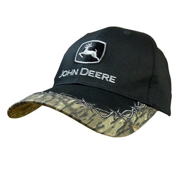 e7cd79d9ba5 Shop John Deere Western Hat Mens Barb Wire Embroidered OS Black - Free  Shipping On Orders Over  45 - Overstock.com - 16689495