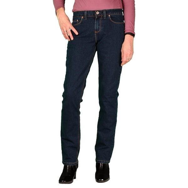 7afed3c609c Shop Dickies Womens Curvy Fit Stretch Straight-Leg Jean - Free ...