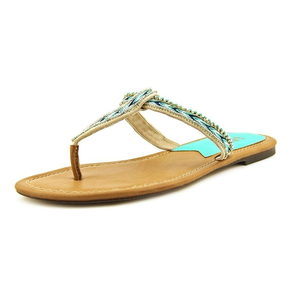 Mia Heritage Fiji Women Open Toe Canvas Brown Thong Sandal