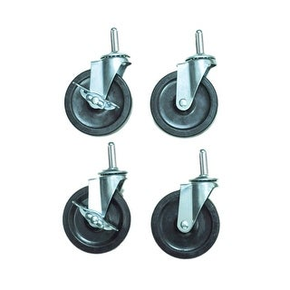 "OF-C4S - Offex 4"" Screw In HD Stem Casters 2 With Brake and 2 Without Brake"