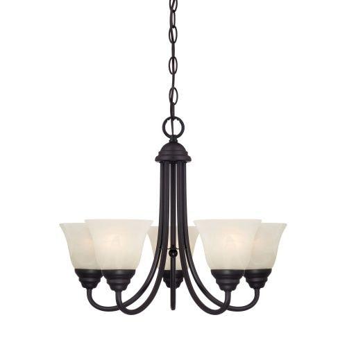 Designers Fountain 85185 Kendall 5 Light 1 Tier Mini Chandelier