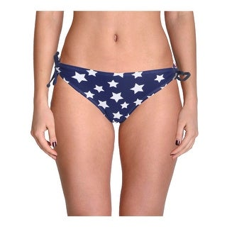 In Mocean Womens Juniors American Flag Side Tie Hipster Swim Bottom Separates