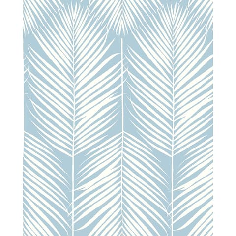 NextWall Palm Silhouette Peel and Stick Wallpaper