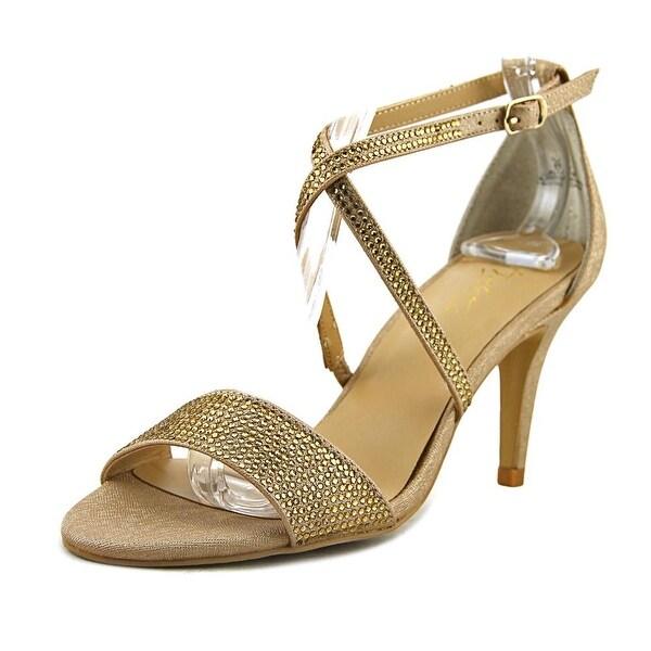 Thalia Sodi Dulcep Women Open-Toe Synthetic Gold Heels