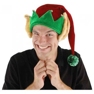 Elf Hat with Ears Adult Costume Accessory