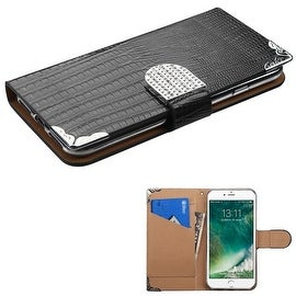 Insten Leather Crocodile Skin Case Cover with Wallet Flap Pouch/ Diamond For Apple iPhone 7