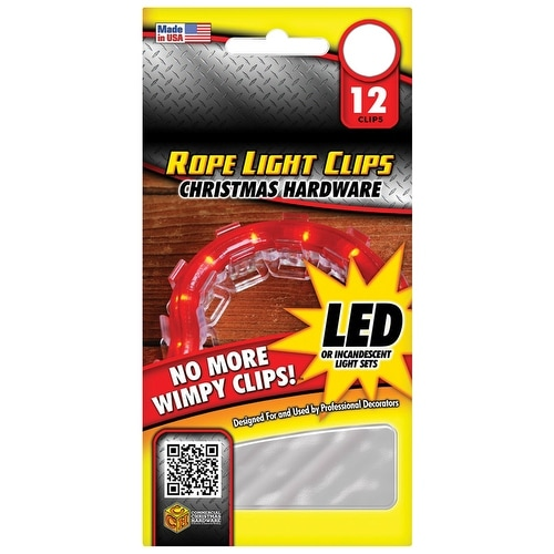 Commercial Christmas Hardware CCH0904000802 Rope Light Clip, Plastic
