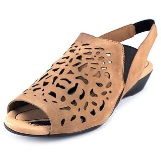 J. Renee Crispin Open-Toe Leather Slingback Sandal